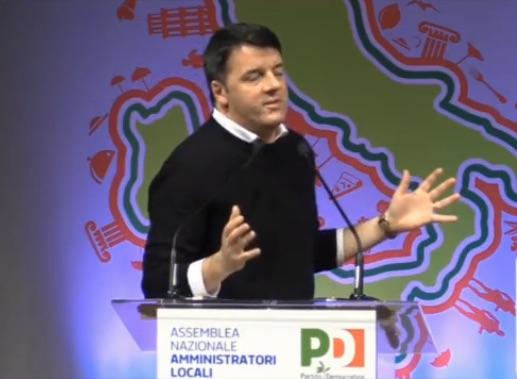 Matteo Renzi all'Assemblea Nazionale degli Amministratori Locali di Rimini