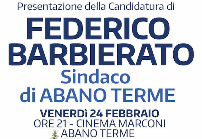 Presentazione della candidatura di Federico Barbierato